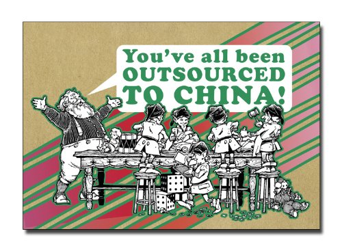 Made in China - Humorous Planet Fabulous Merry Christmas Greeting Card