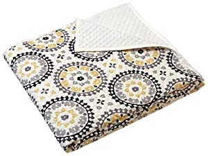 Stylemaster Twill and Birch Melina Print Quilted Bedspread, Full, Charcoal