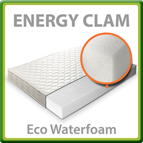 Energy Clam Materasso Letto Singolo 80x190 Adatto a seconda Casa WaterFoam