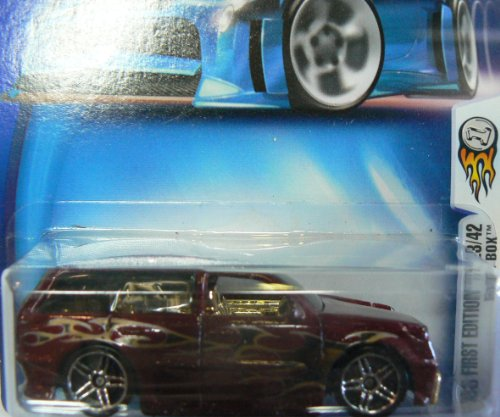 Hot Wheels 2003 First Editions 23/42 Maroon Boom Box #035 on Card Variation - 1