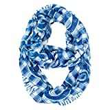 NFL Indianapolis Colts Sheer Infinity Plaid Scarf, One Size, Blue