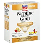 Rite Aid Pharmacy Stop Smoking Aid, 4 mg, Gum, Coated Fruit, 100 pieces