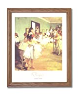 Edgar Degas Girl Tutu Ballet Dance Class Ballerina Wall Picture Oak Framed Art Print