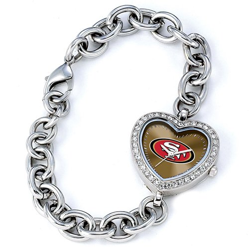 Ladies NFL San Francisco 49ers Heart Watch at Amazon.com
