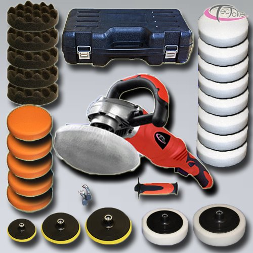 TecTake Professional Polishing Machine 1400 Watt 0-3000rpm + Set 8