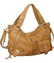 Hot Sale Tan Large ''Utilitarian'' Crossbody-to-Shoulder Bag Hobo