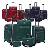 Beverly Hills Country Club San Vincente 5-piece Expandable Spinner Luggage Set (Green)