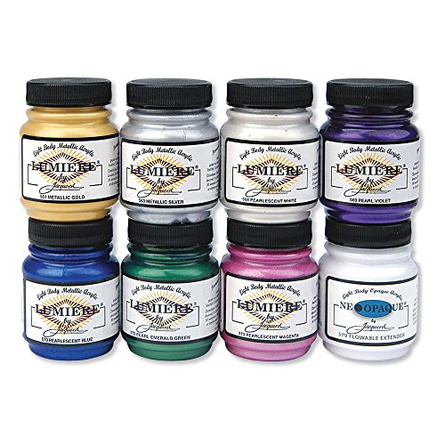 jacquard-products-jac5600-lumiere-metallic-acrylic-paint-8-pack-225-oz-assorted
