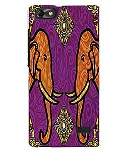 Fuson 3D Printed Elephant Pattern Designer Back Case Cover for Huawei Honor 4C - D962
