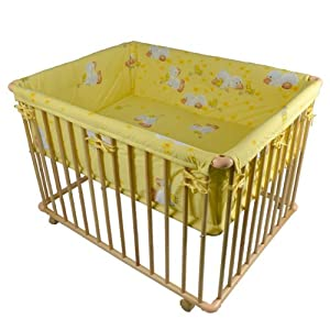 """""""Honey Bee"""" Parque para bebé -- Parque de lujo 100x75cm -- 53516-01 - BebeHogar.com"""