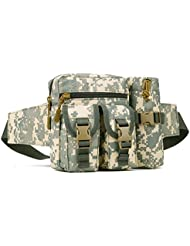 Nylon Camo Waist Pack Bag Fanny Packs Waterproof Hip Belt Bag Pouch For Hiking Climbing Outdoor Bumbag