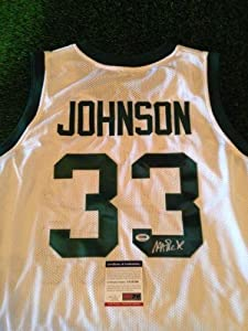MAGIG JOHNSON Autographed MICHIGAN STATE Jersey COA SIGNED AUTO NCAA - PSA DNA... by Sports Memorabilia