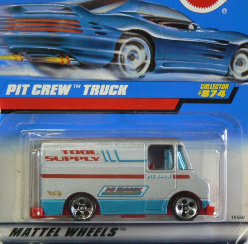Mattel Hot Wheels 1998 1:64 Scale Silver Pit Crew Truck Die Cast Car Collector #874 - 1