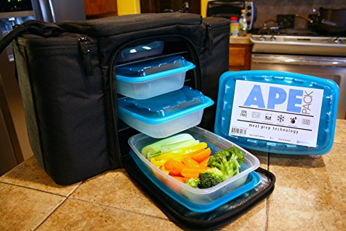 Meal Prep Containers for the Athletic Lifestyle - 28 Oz Single Compartment - Gym Bag Compatible - Enhanced Food Storage Reusable Plastic Stackable Lunch Boxes