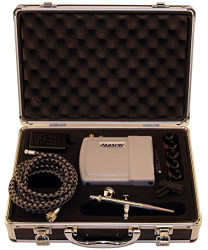 Paasche Airbrush Makeup Airbrush and Compressor Kit with Case, 32 Ounce