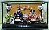 【新作雛人形】【ケース飾り雛人形】三五二人飾りケース付き雛人形【2人飾りひな人形】k35-2