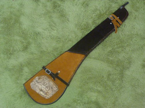 """Lowest Price! Rifle Scabbard in Suede and Tooled Leather...Wool Lined. 33"""" Fits any Rifle or Sh..."""