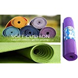 Vivir Premium Quality Anti-Skit 6MM Thick Yoga Mat (Pack Of 1,Multicolor)