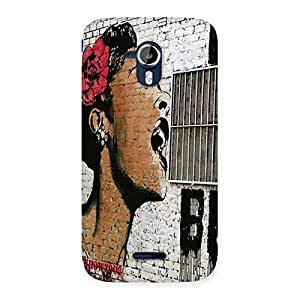 Gorgeous Girl Singing Wall Back Case Cover for Micromax Canvas Magnus A117