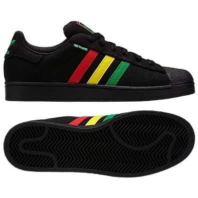 Adidas Original Superstar II 2.0 Rasta Hemp G65535 Black/Red/Yellow/Green Men's Shoes (Size 7.5)