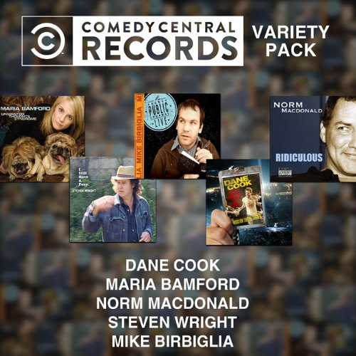 Click here to buy Comedy Central 5 CD Pack by Various Artists, Dane Cook, Steven Wright, Mike Birbiglia and Maria Bamford.