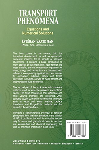 Transport Phenomena: From the Conservation Equations to the Numerical Solution (Mechanical Engineering)