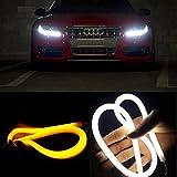 RioRand 汎用パーツ LEDチューブライト/ネオン/デイライト 2色点灯 AUDI風アイライン ストリップチューブ (2 x 30cm)