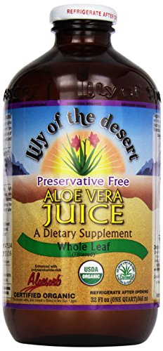 Lily of the Desert Aloe Juice, Preservative Free, Whole Leaf, 1 Quart (Packaging may vary) (Aloe Juice Organic compare prices)