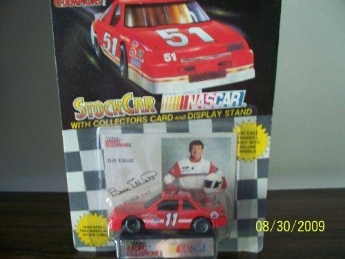 vintage-1991-racing-champions-bill-elliott-11-amoco-1-64-scale-black-window-car-with-photo-card-inse