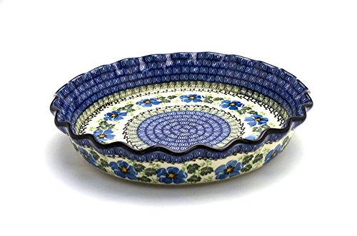 Polish Pottery Fluted Pie/Quiche Baker - Morning Glory soft gallery комбинезон soft gallery модель 27658323