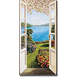 Giardino Fiorito (Flower Garden) by Andrea Del Missier Premium Gallery-Wrapped Canvas Giclee Art (Ready-to-Hang)