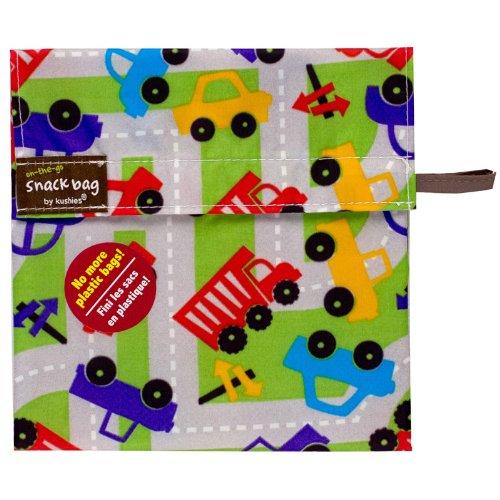 Kushies Baby Kushies On The Go Snack Bag, Traffic Print, Medium - 1