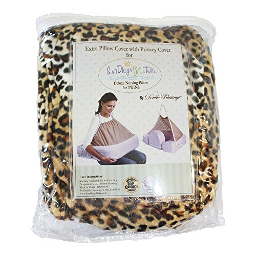 EXTRA COVER FOR San Diego Bebe TWIN Eco Nursing Pillow, Cheetah