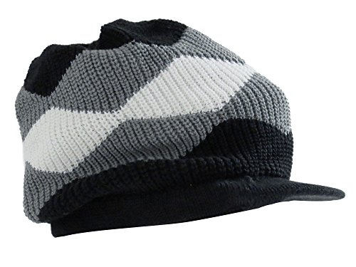 Simplicity Women New Knit Visor Hat (Winter Cap),Many Patterns,Black2