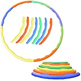 FunkyBuys® 7pc Quality Adults Kids Multicolor Small Large Hula Hoops DIA:57cm (23