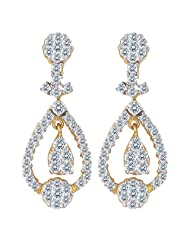 Nakshatra 18k Yellow Gold Diamond Stud Earrings - B00NWCFIJ6