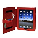 CaseCrown Synthetic Leather Horizontal Flip iPad Case (Red) for the Apple iPad Wifi / 3G Model 16GB, 32GB, 64GB