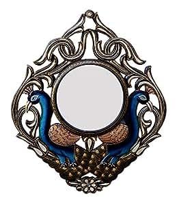 Buy ghanshyam art wood peacock wall mirror cm x 4 for Mirror 45 x 60