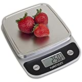 Ivation Lightweight Digital Kitchen/Food Scale w/Plastic-Covered Buttons -  ....