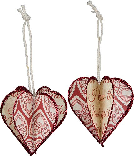 Primitives By Kathy – 3d Heart Ornament – Valentine