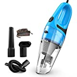 Car Vacuum Cleaner High Power RETECK DC 12v Portable Handheld Car Vacuum Wet Dry Vacuum 5.0Kpa Suction Auto Vacuum Cleaner Tools with Cigarette Lighter Plug 14ft Power Cord with Carrying Bag [Update]