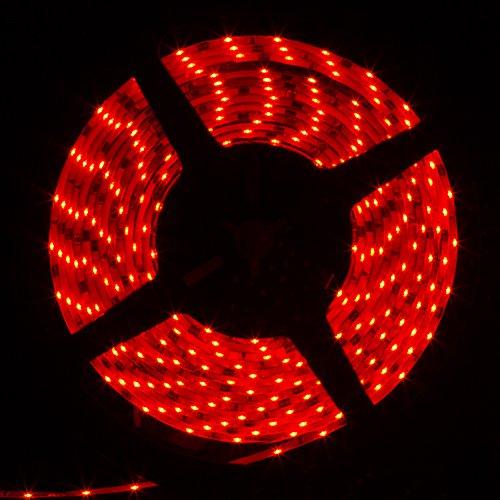 Supernight (Tm) 16.4Ft 5M Red Smd 335 Flexible Ribbon Led Strip Light,Water Resistant(Ip-65), Side View Light-Emitting Led, 300Leds 60Leds/M 12V Dc