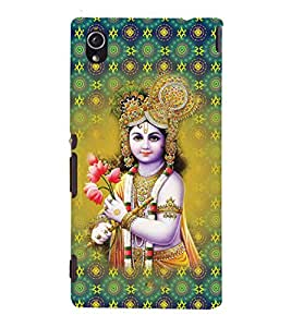 iFasho Lord Krishna in bal avtar Back Case Cover for Sony Xperia M4 Aqua / Dual