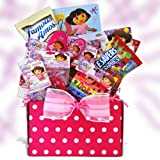 Dora the Explorer Gift Basket Fun Includes Candy Gift Basket for Children