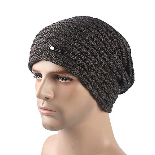 All'aperto d'inverno e cashmere cappello a maglia metallica , coffee