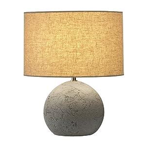 SLV Lighting 155700U Soprana Solid Tl-1 Table Lamp, Grey/Beige