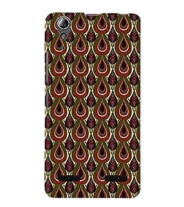 Vizagbeats Peacock Eye Back Case Cover for LENOVOA6000
