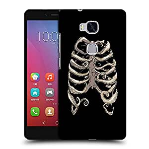 Snoogg Ribs Cage Designer Protective Back Case Cover For HUAWEI HONOR 5X