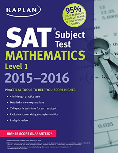 Kaplan SAT Subject Test Mathematics Level 1 2015-2016 (Kaplan Test Prep)