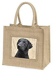Curly Coat Retriever Dog Large Natural Jute Shopping Bag Christmas Gift